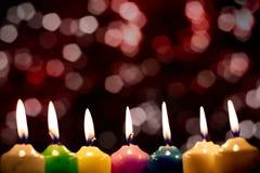 Grupo de velas ardentes Fotografia de Stock