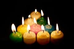Grupo de velas ardientes Imagen de archivo