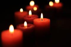 Grupo de velas del aroma foto de archivo libre de regalías