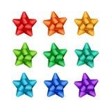Grupo de verde azul alaranjado vermelho Violet Gift Ribbon Bows Fotografia de Stock