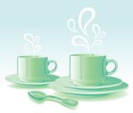 Grupo de verde dos pratos Imagem de Stock Royalty Free