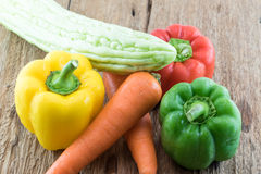 Grupo de verduras frescas Foto de archivo libre de regalías