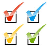 Grupo de verificações coloridas Fotos de Stock Royalty Free