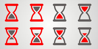 Grupo de vermelho da ampulheta, cinzento Imagens de Stock
