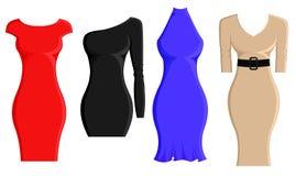 Grupo de vestidos da bainha Foto de Stock