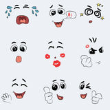Grupo de vetor bonito da emoção Imagens de Stock