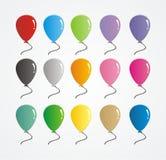 Grupo de vetor de borracha colorido do balão Foto de Stock Royalty Free