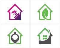 Grupo de vetor do conceito de projetos do logotipo da casa ilustração do vetor