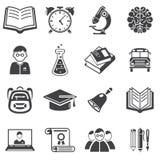 Grupo de vetor dos ícones da educação Imagem de Stock Royalty Free