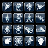 Grupo de vetor dos ícones do Natal Foto de Stock Royalty Free