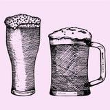 Grupo de vidro da cerveja com espuma Foto de Stock Royalty Free