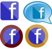 Grupo de vidro do logotipo de Faceboook Fotos de Stock