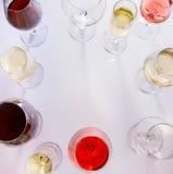 Grupo de vidros com vinho Fotografia de Stock