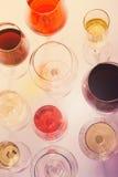 Grupo de vidros com vinho Imagem de Stock