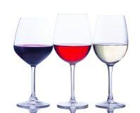 Grupo de vidros com vinho Fotografia de Stock Royalty Free