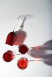Grupo de vidros de vinho tinto Fotos de Stock Royalty Free