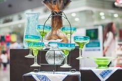 Grupo de vidros dos margaritas Foto de Stock Royalty Free