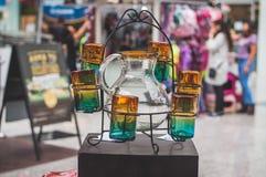 Grupo de vidros feitos de vidro fundido Imagem de Stock