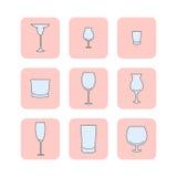 Grupo de vidros vazios Fotos de Stock