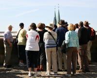 Grupo de visita turístico de excursión Fotografía de archivo