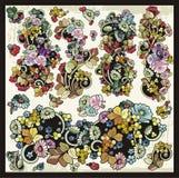 Grupo decorativo de Clipart dos Flourishes florais do vetor Foto de Stock