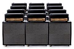 Grupo del amperio de la guitarra Imágenes de archivo libres de regalías