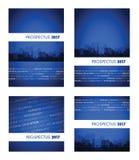 Grupo del azul del prospecto 2017 Imagen de archivo libre de regalías