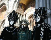 Grupo del carnaval de Venecia Fotografía de archivo libre de regalías