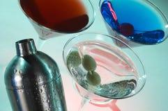 Grupo del coctel de Martini Foto de archivo libre de regalías