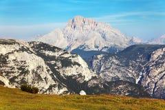Grupo del Cristallo, montagne delle alpi delle dolomia Fotografie Stock