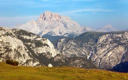 Grupo del Cristallo, montagne delle alpi delle dolomia Fotografia Stock Libera da Diritti