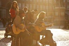 Grupo del flamenco Imagen de archivo