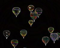 Grupo del globo de los efectos especiales en Albuquerque Foto de archivo