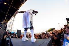 Grupo del hip-hop del enemigo público en concierto en el festival de la BOLA Imagen de archivo