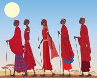 Grupo del Masai ilustración del vector