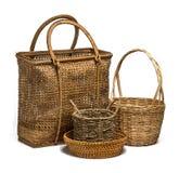Grupo del mimbre de la cesta Imagen de archivo libre de regalías