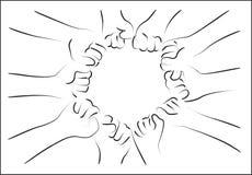 Grupo del puño libre illustration