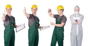 Grupo del trabajador de construcción del hombre Imágenes de archivo libres de regalías