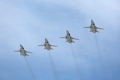 Grupo del Tupolev Tu-22M3 (petardeo) de los bombarderos Fotos de archivo libres de regalías