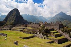 Grupo del umbral de Machu Picchu tres Imagen de archivo