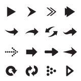 Grupo del vector de flecha Imagen de archivo