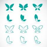 Grupo del vector de mariposa Imagen de archivo libre de regalías