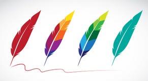Grupo del vector de plumas Imagen de archivo libre de regalías