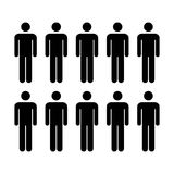 Grupo del vector del icono de la gente de ejemplo de Team Symbol Pictogram de los hombres Fotografía de archivo