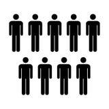 Grupo del vector del icono de la gente de ejemplo de Team Symbol Pictogram de los hombres Imagenes de archivo