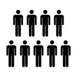 Grupo del vector del icono de la gente de ejemplo de Team Symbol Pictogram de los hombres Imagen de archivo