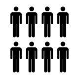 Grupo del vector del icono de la gente de ejemplo de Team Symbol Pictogram de los hombres Foto de archivo libre de regalías