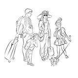 Grupo del viaje, turistas Fotografía de archivo libre de regalías