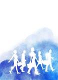 Grupo del Watercolour de hombres de negocios Imagenes de archivo
