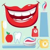 Grupo dental do vetor da higiene ilustração stock